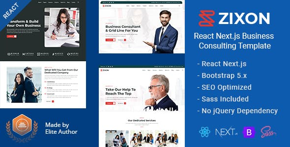 Zixon - React Next.js Business Consulting Template