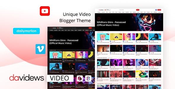 Davidews - Video Blogger Theme - Blogger Blogging