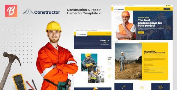 Constructor - Construction & Repair Elementor Template Kit