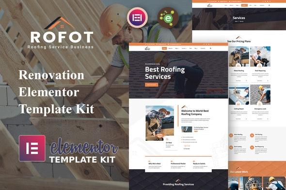 Rofot - Renovation Elementor Template Kit - Real Estate & Construction Elementor