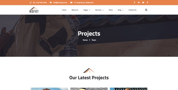 Rofot - Renovation Elementor Template Kit