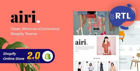 Minimal Shopify Theme - Airi