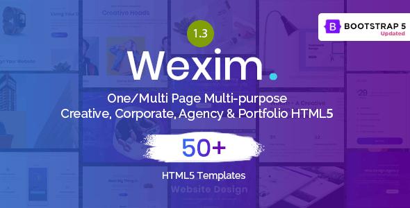 Wexim - One Page Parallax - Portfolio Creative