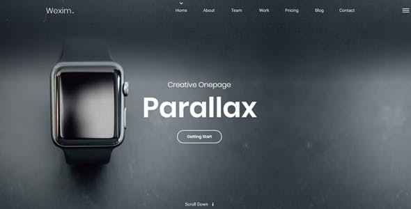 Wexim - One Page Parallax