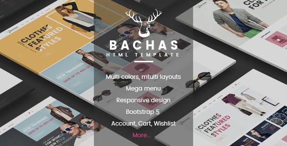 Elegant Fashion Boutique Website Template using Bootstrap 5 - Bachas