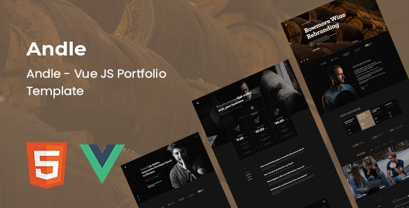 Andle - Vue Portfolio Template - Portfolio Creative
