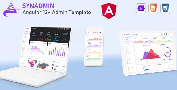 Synadmin - Angular 12+ Admin Template