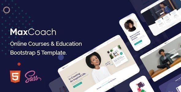Education HTML Template using Bootstrap 5 - MaxCoach