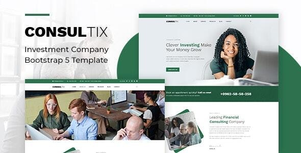 Consultix - Investment Company Bootstrap 5 Template - Business Corporate