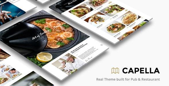 Capella | Restaurant WordPress - Restaurants & Cafes Entertainment