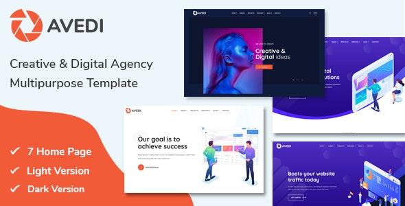 Avedi - Creative & Digital Agency  Multipurpose Template - Corporate Site Templates
