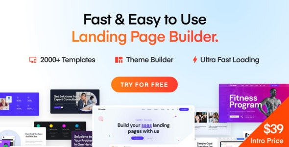 Landio v1.1.0 – Multi-Purpose Landing Page WordPress Theme