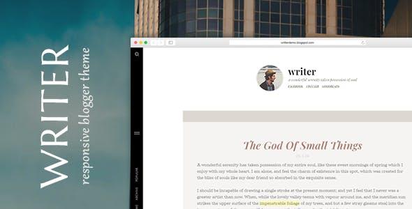 Writer - Minimal Personal Blogger Theme