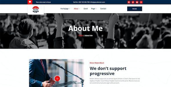 Politics - Political Candidate Leader Elementor Template Kit