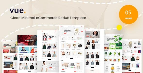 Vue - Clean Minimal eCommerce React Redux Template - Fashion Retail