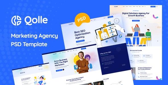 Qolle - Digital Marketing Agency PSD Template - Marketing Corporate