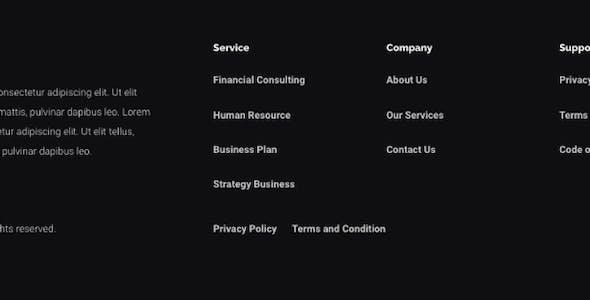 Dherek - Business Consultant Website Template