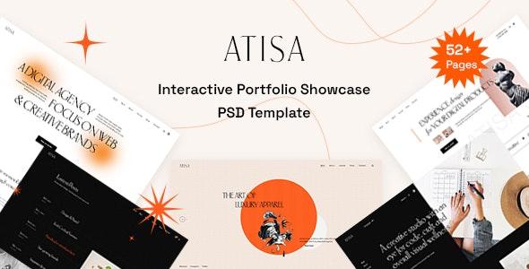 Atisa - Interactive Portfolio Showcase PSD Template - Portfolio Creative