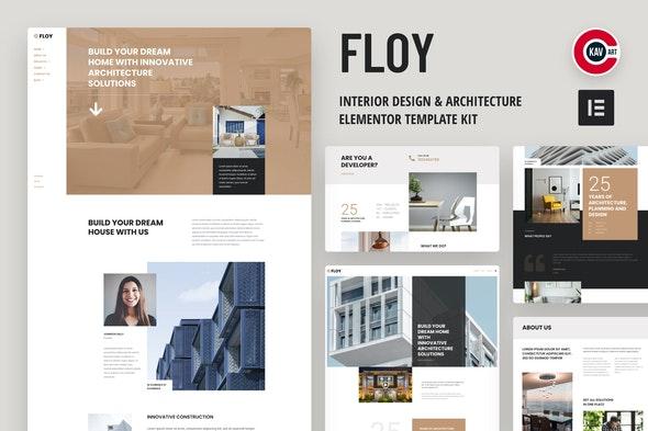 Floy - Interior Design & Architecture Elementor template kit - Creative & Design Elementor