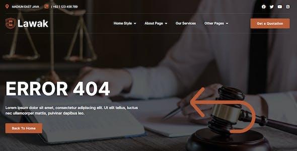 Lawak - Legal & Lawyer Services Elementor Template Kit