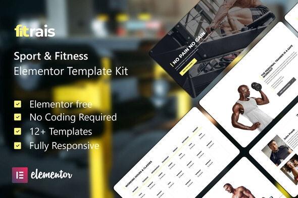 Fitrais - Sport & Fitness Elementor Template Kit - Sport & Fitness Elementor