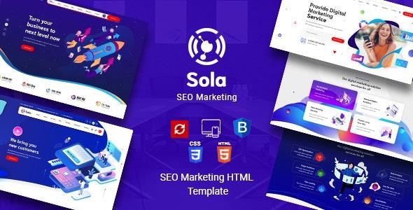 Sola - SEO Marketing HTML Template - Marketing Corporate