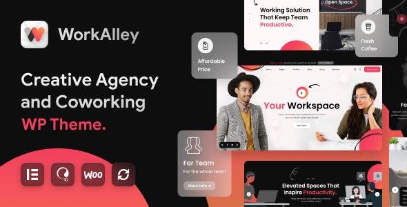 WorkAlley - Creative Agency & Coworking WordPress Theme - Business Corporate