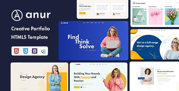 Anur - Creative Portfolio HTML5 Template