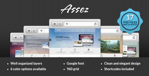 Assez PSD Template - Creative Photoshop