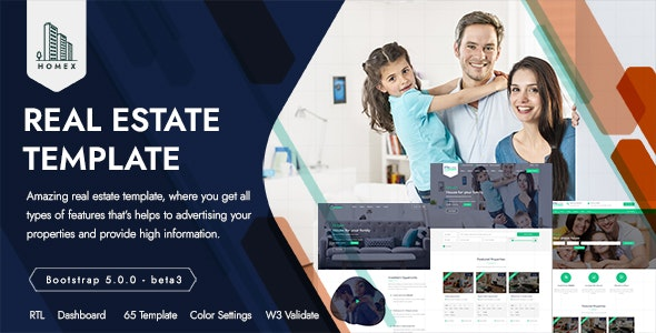 Homex - Real Estate Template - Business Corporate