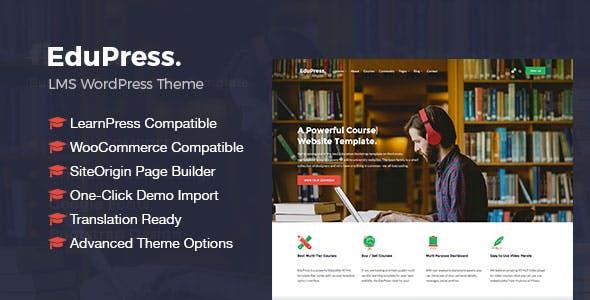 EduPress   Responsive LMS, University Education WordPress Theme