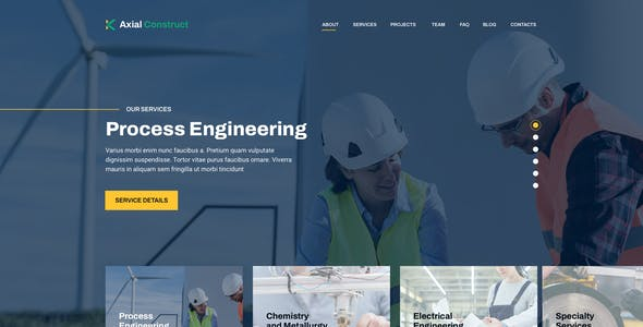 Axial – Construction Company Template for Sketch