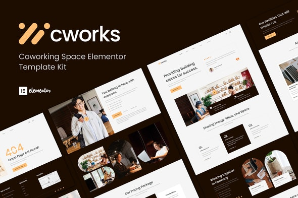 Cworks - Coworking Space Elementor Template Kit - Business & Services Elementor
