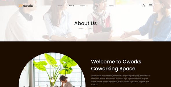 Cworks - Coworking Space Elementor Template Kit