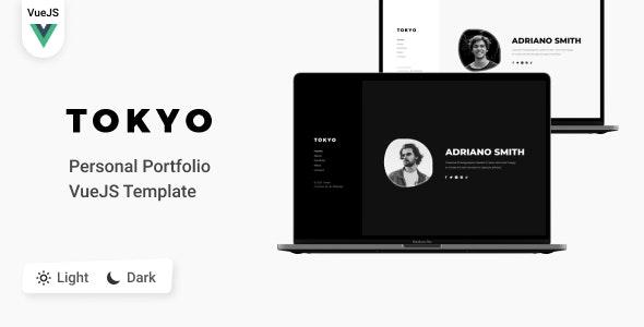 Tokyo - Personal Portfolio VueJS  Template - Virtual Business Card Personal