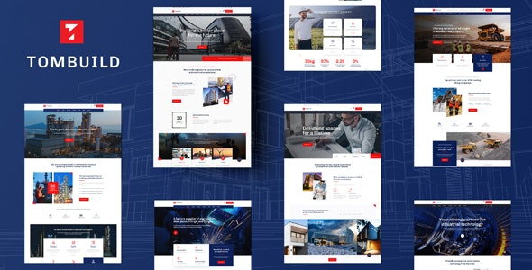Tombuild - Construction & Engineering PSD Template - Photoshop UI Templates
