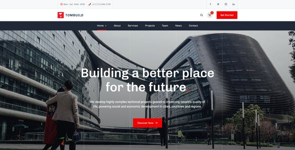 Tombuild - Construction & Engineering PSD Template