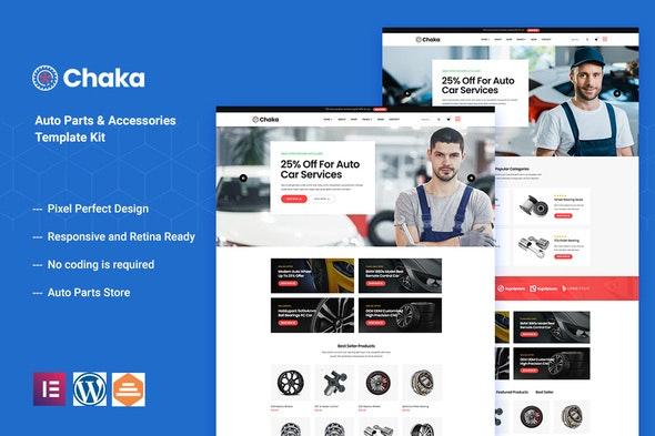 Chakta - Auto Parts Store & Accessories Elementor Template Kit - Automotive & Transportation Elementor