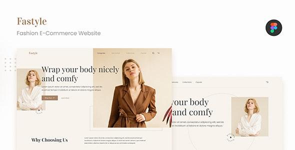 Fastyle - Simple Elegant Fashion E-Commerce UI Figma - Fashion Retail