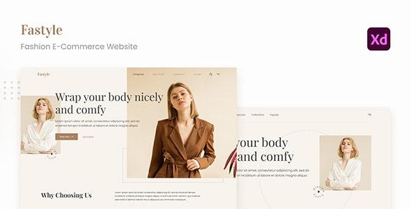 Fastyle - Simple Elegant Fashion E-Commerce UI Adobe XD - Fashion Retail