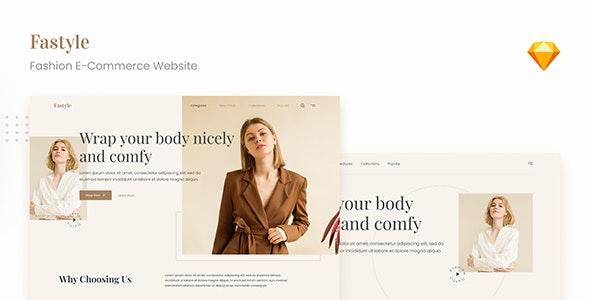 Fastyle - Simple Elegant Fashion E-Commerce UI Sketch - Fashion Retail