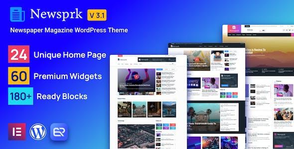 Newsprk - Newspaper WordPress Theme