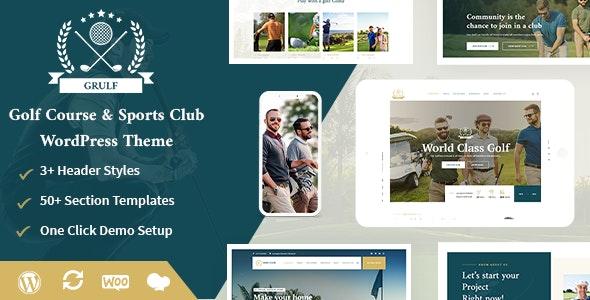 Grulf - Golf Club WordPress Theme - Entertainment WordPress