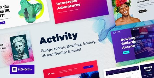 Activity - Booking WordPress Theme - Entertainment WordPress