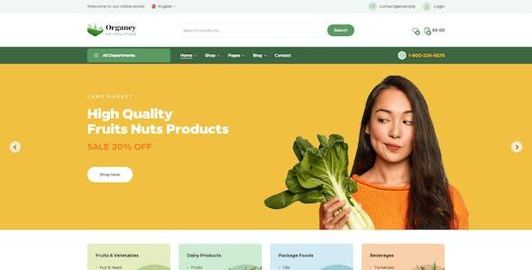 Organey - Organic Food WooCommerce WordPress Theme
