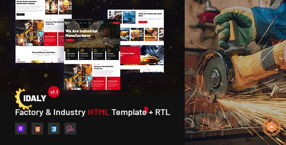 Idaly - Factory & Industry HTML Template + RTL