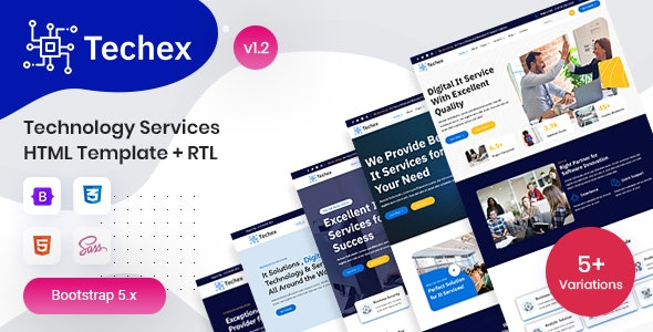 Technology Services HTML Template - Techex - Technology Site Templates