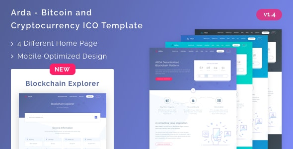 Arda v1.4 – Bitcoin and Cryptocurrency ICO HTML Template