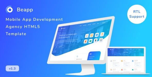Beapp v1.0 – Mobile App Development Agency HTML5 Template + RTL Support