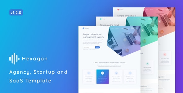 Hexagon v1.2.0 – Agency, Startup and SaaS Template